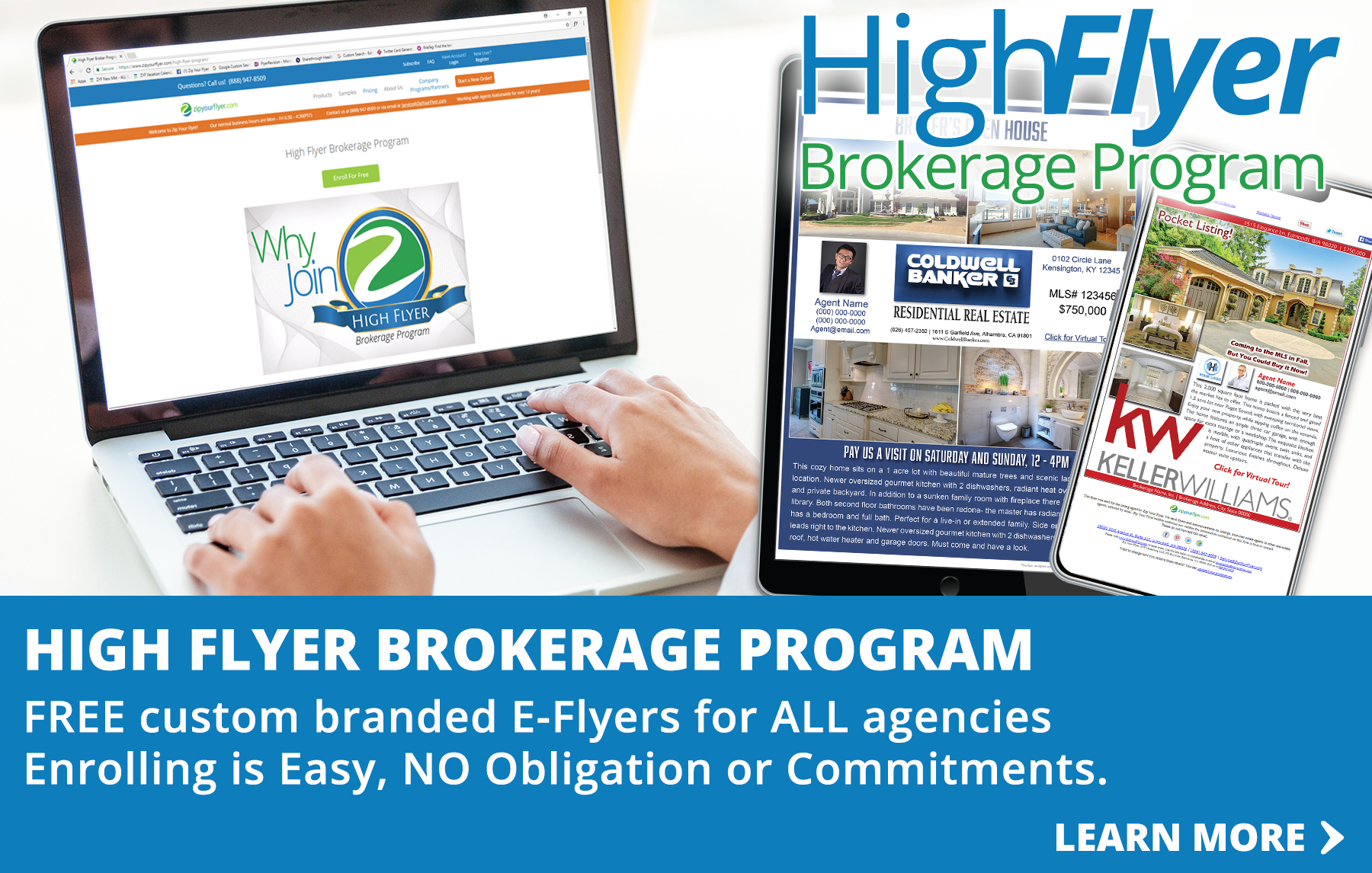 Email Flyers Brokerage Program
