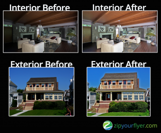 Photo editing for real estate flyers